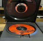 CD32 CD bay lid open