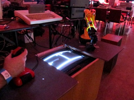 Robotic arm playing Pong