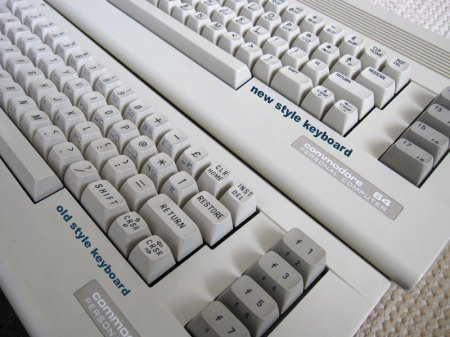 Different keyboard styles of C64 C