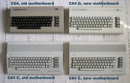 Four different models of C64