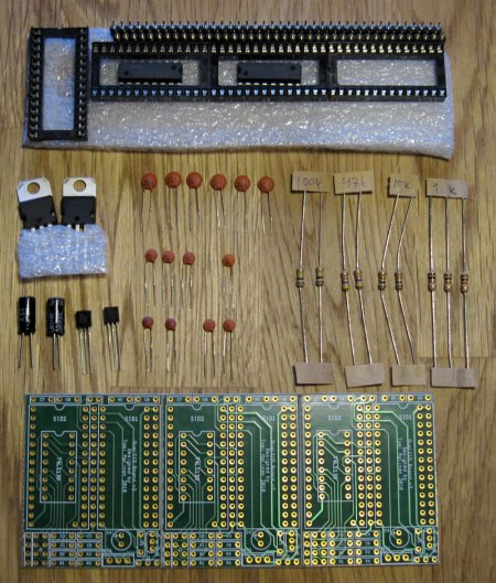 DualSID-boards and components unassembled