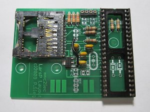 MMC2IEC step04 board populated sans xtal