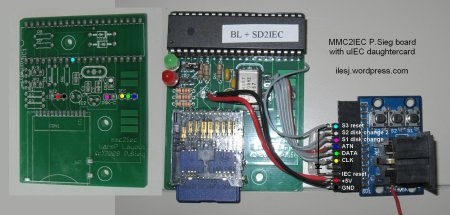 MMC2IEC with uIEC daughtercard wirings