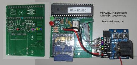 MMC2IEC with uIEC daughtercard wirings