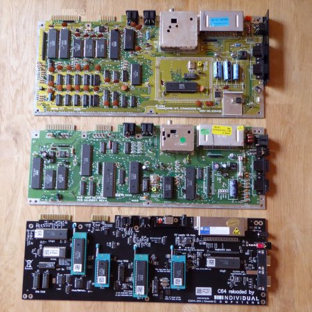 C64 motherboard evolution