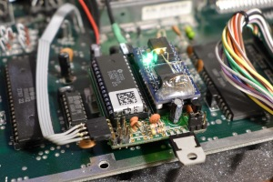 Close-up of the DualSID board.
